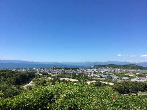 彦根城の山頂から見下ろす関ヶ原