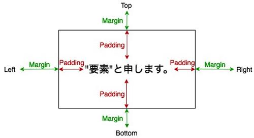 MarginとPaddingの図解