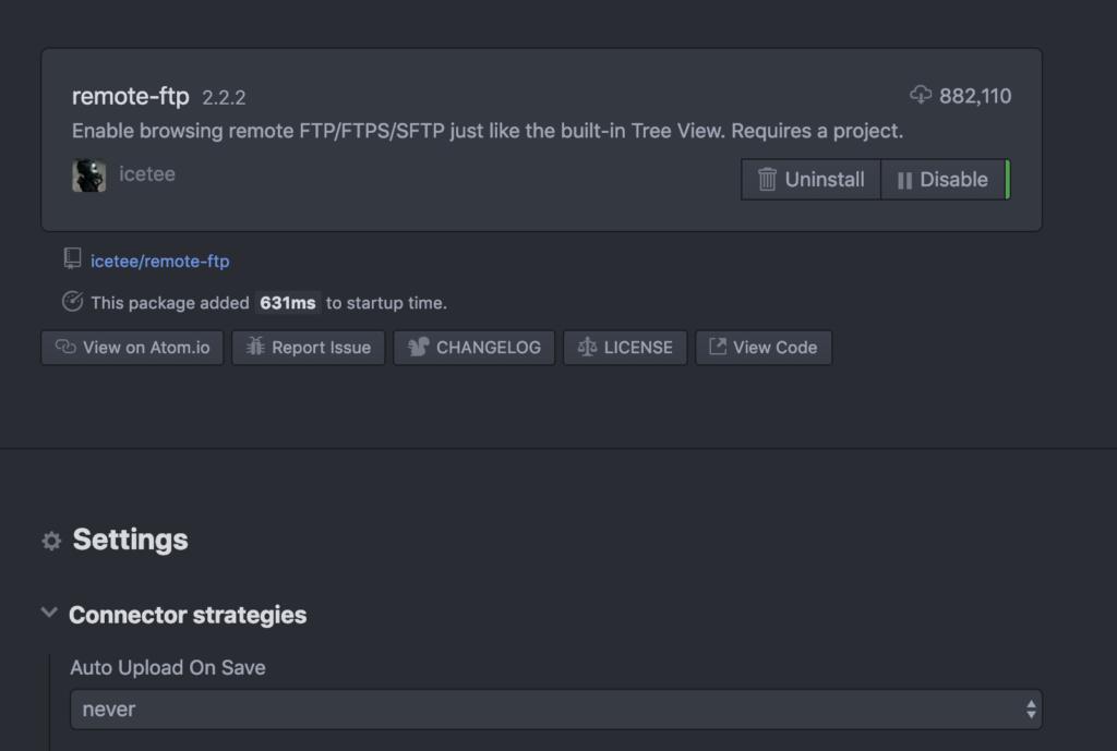 Remote FTPの設定