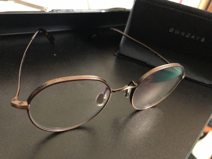 オンデーズのメガネ